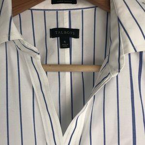 Talbots Tops - Talbots | Blue Striped Tank